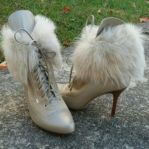 Ann Taylor Daniela Shearling Lamb Heeled Boot